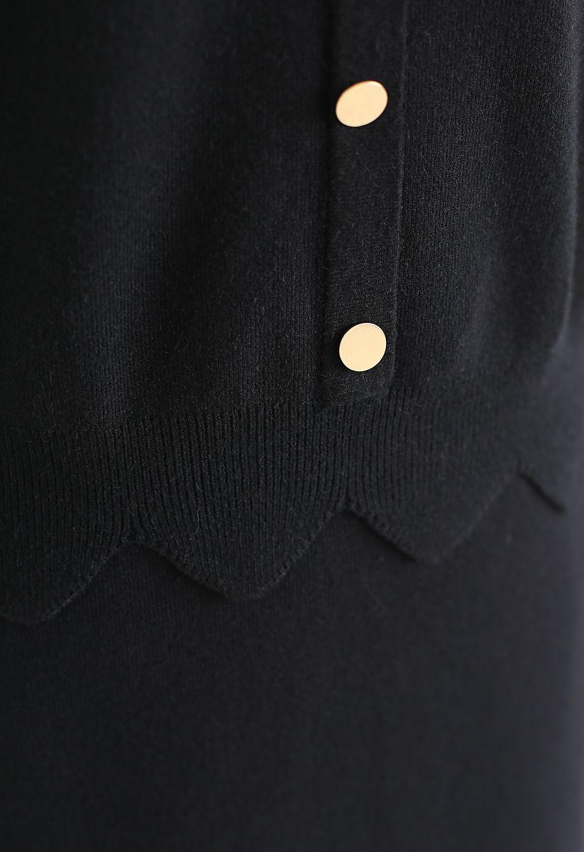 Passing Dreams - Ensemble haut et jupe en noir