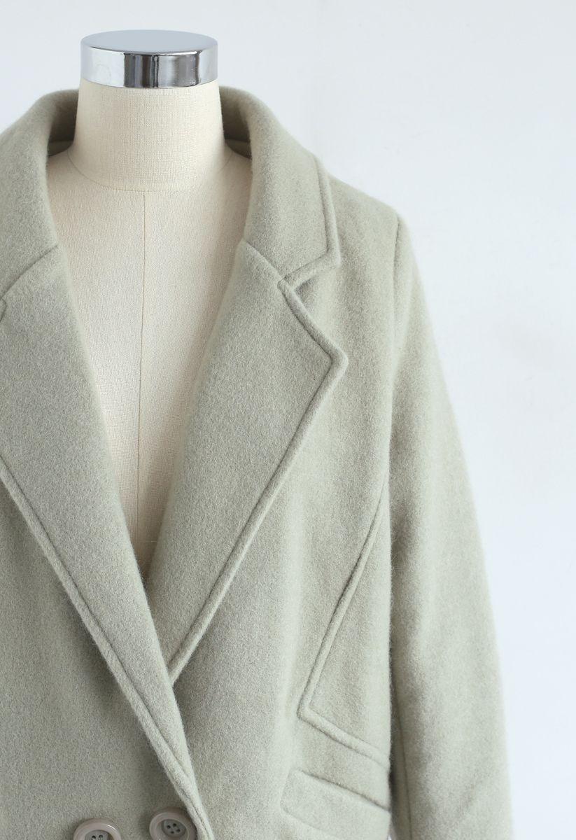 Relevez le défi Manteau en mélange de laine à pois