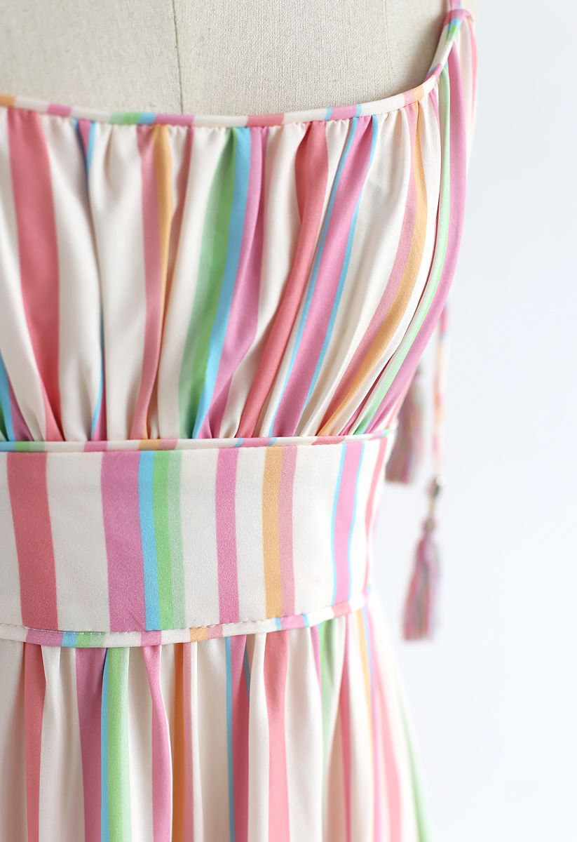 Bonbon à rayures Arc-en-ciel Robe Longue