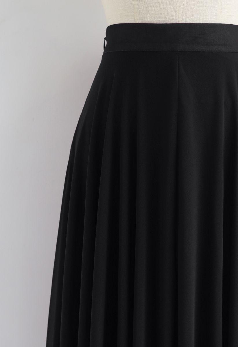 Favorite Intemporelle Jupe longue indémodable en mousseline noire