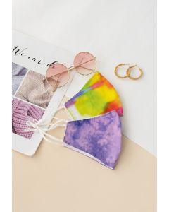 2 Packs Tie-Dye Print Face Coverings