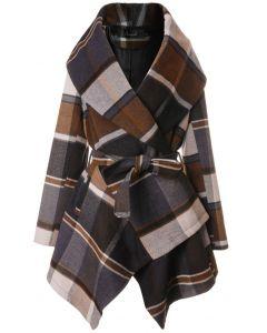 Manteau Rabato à carreau par Chic+