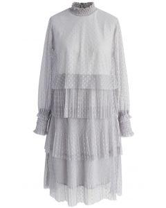 Pois Luscious Robe Volantée en Maille Girs