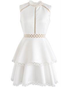 Show Your Elegance - Robe sans manches à œillets - Blanc