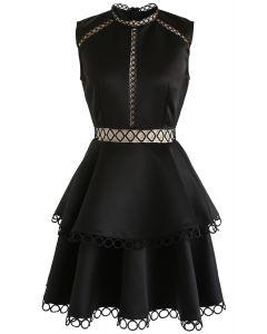 Show Your Elegance - Robe sans manches à œillets - Noir