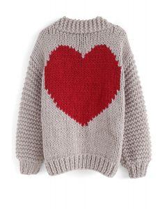 Cardigan Chunky tricoté à la main de Key to My Heart