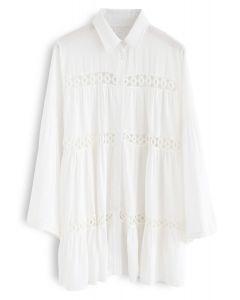 Hear the Breeze - Chemise tunique à découpes en crochet
