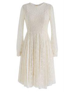 Once Upon a Dream Robe en dentelle à la crème