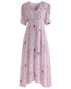 Incroyable Grace Floret Robe en mousseline de soie en rose