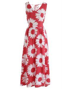 Tournesol Glow Maxi Dress Back in Rouge