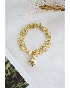 Love Gold Chain Bracelet